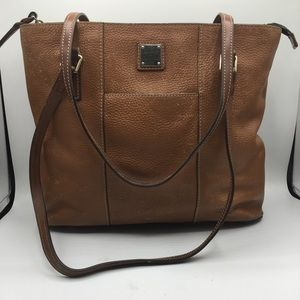Dooney & Bourke Brown Pebbled Leather Tote